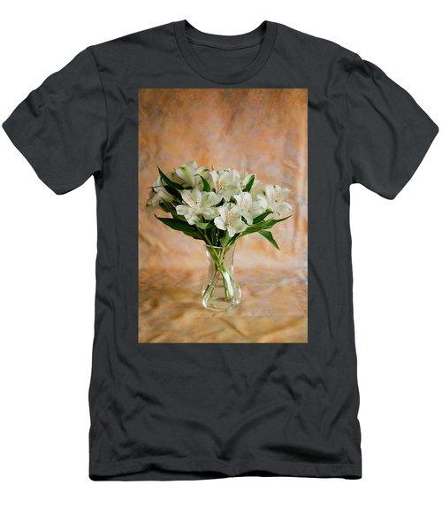 Alstroemeria Bouquet On Canvas Men's T-Shirt (Athletic Fit)