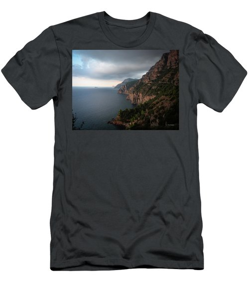 Men's T-Shirt (Athletic Fit) featuring the photograph Amalfi Coast, Italy by Tim Bryan