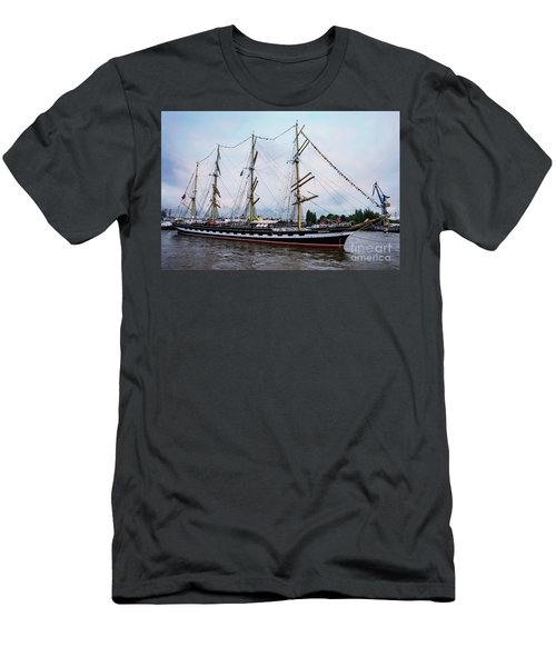 An Exit Sailboat Krusenstern On Parade Men's T-Shirt (Athletic Fit)