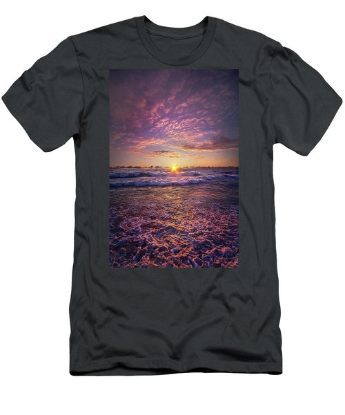 Men's T-Shirt (Athletic Fit) featuring the photograph And Then Begin Again by Phil Koch