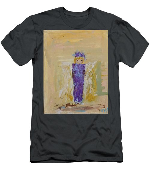 Angel Girl With A Unicorn Men's T-Shirt (Athletic Fit)