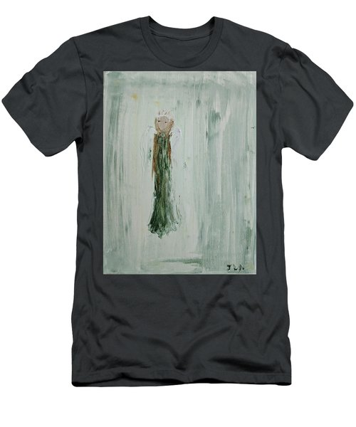 Angel In Green Men's T-Shirt (Athletic Fit)