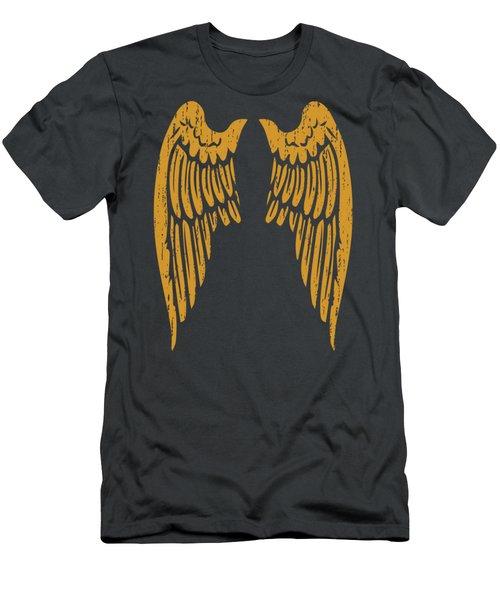 Angel Wings Gold Back T Shirt For Men Women Kids Men's T-Shirt (Athletic Fit)