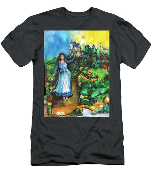 Men's T-Shirt (Athletic Fit) featuring the photograph Annabelle And Sunflowers by Laurie Lundquist