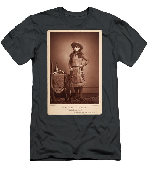 Annie-oakley-woodburytype-cabinet-card-c1890s Men's T-Shirt (Athletic Fit)