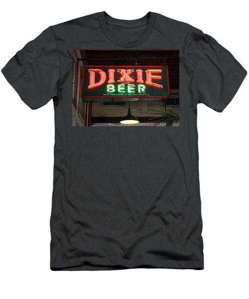 Antique Dixie Beer Neon Sign Men's T-Shirt (Athletic Fit)