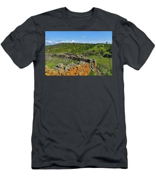 Antique Stone Wall Of An Old Farm Men's T-Shirt (Athletic Fit)