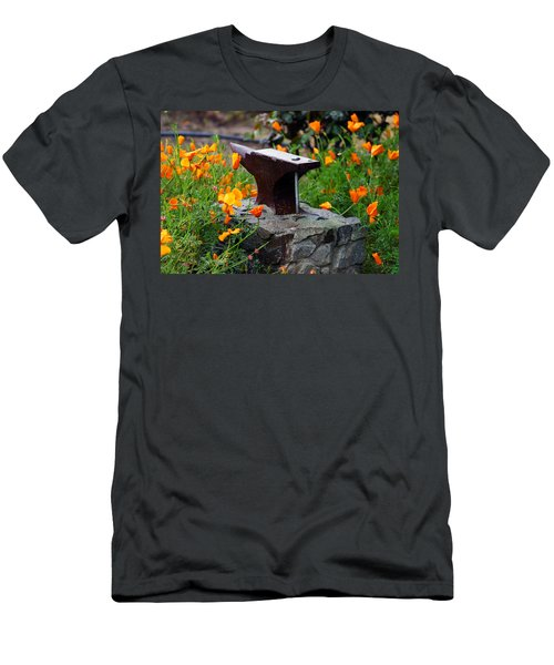 Anvil In The Poppies Men's T-Shirt (Athletic Fit)