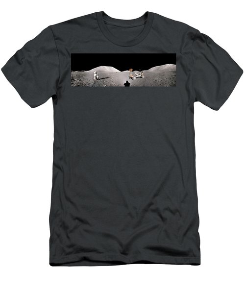 Apollo 17 Taurus-littrow Valley The Moon Men's T-Shirt (Athletic Fit)
