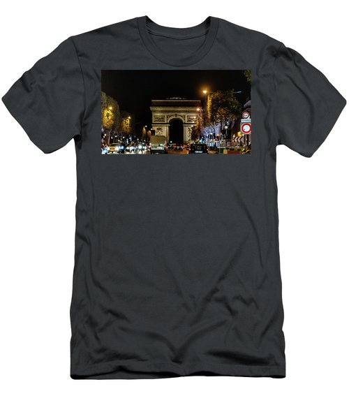 Men's T-Shirt (Athletic Fit) featuring the photograph Arc De Triomphe by Randy Scherkenbach