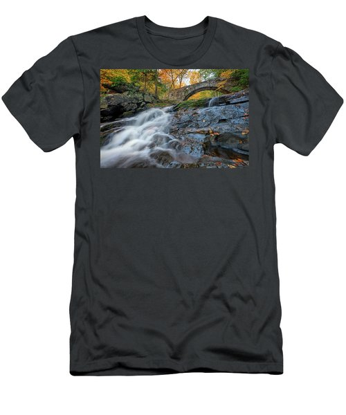 Men's T-Shirt (Athletic Fit) featuring the photograph Arch Bridge At Vaughan Woods by Rick Berk