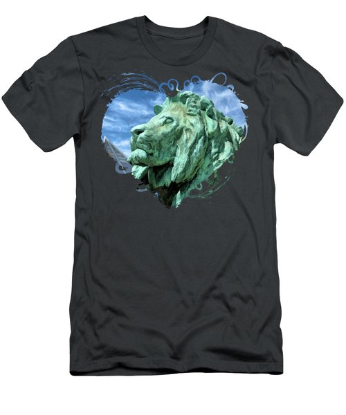 Art Institute In Chicago Lion Men's T-Shirt (Athletic Fit)