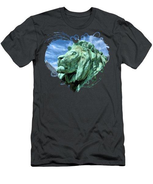 Art Institute In Chicago Lion Men's T-Shirt (Athletic Fit)