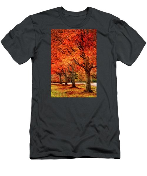 Artistic Four Fall Trees Men's T-Shirt (Athletic Fit)