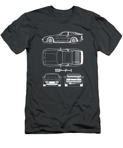 Porsche 944 Blueprint Men's T-Shirt (Athletic Fit)