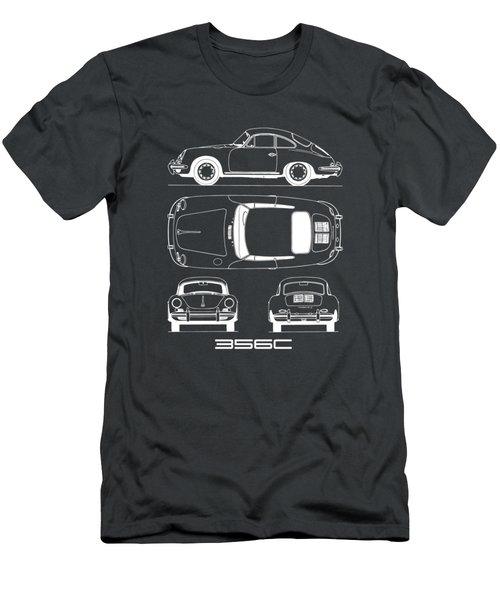 Porsche 356 C Blueprint Men's T-Shirt (Athletic Fit)