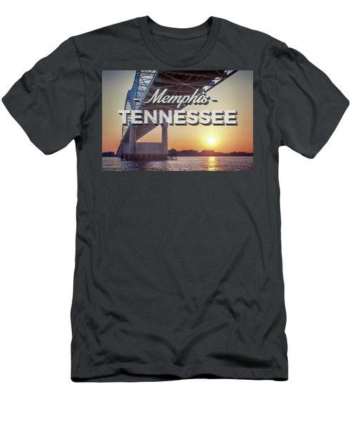 Bridge Over Mississippi River Men's T-Shirt (Athletic Fit)
