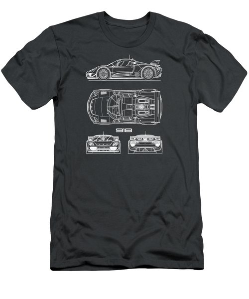The 918 Spyder Blueprint Men's T-Shirt (Athletic Fit)