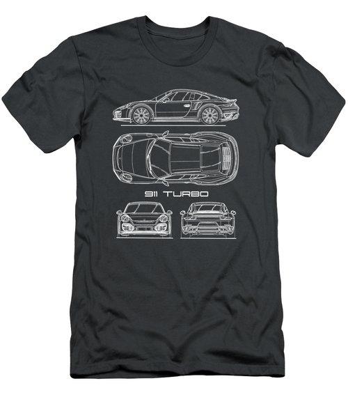911 Turbo 991 Blueprint Men's T-Shirt (Athletic Fit)
