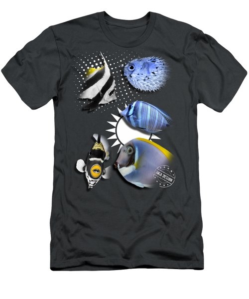 A Bunch Of Colorful Fishes No 06 Men's T-Shirt (Athletic Fit)