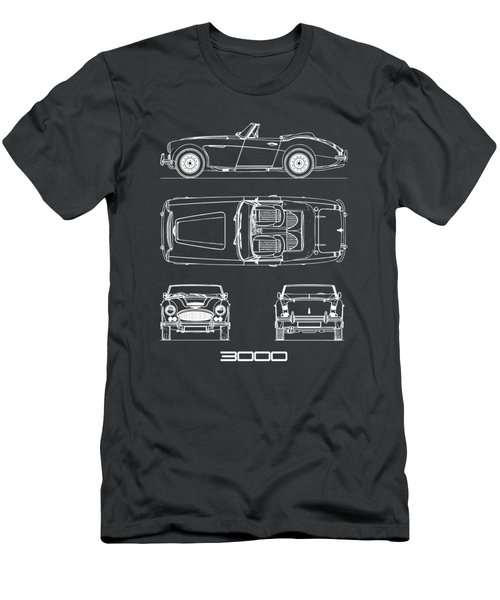 The Austin-healey 3000 Blueprint Men's T-Shirt (Athletic Fit)