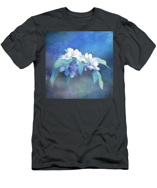 Painted Crabapple Blossoms Men's T-Shirt (Athletic Fit)