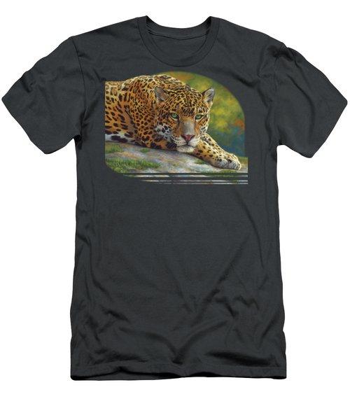 Peaceful Jaguar Men's T-Shirt (Athletic Fit)