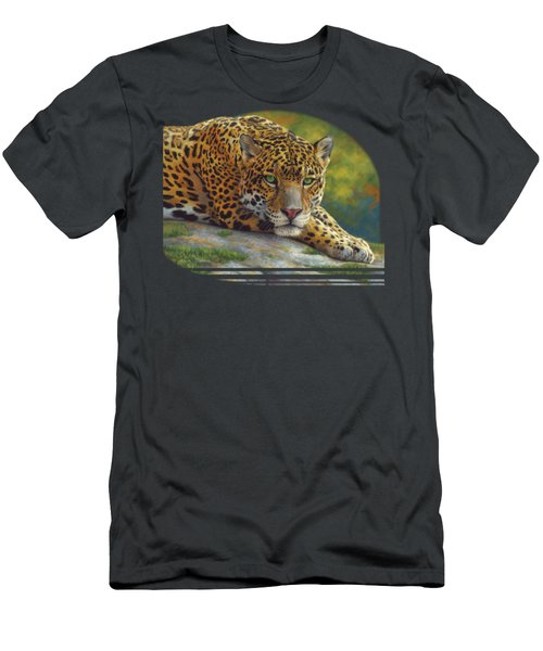 Peaceful Jaguar Men's T-Shirt (Athletic Fit)