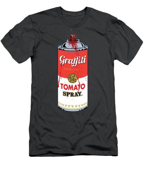 Tomato Spray Can Men's T-Shirt (Athletic Fit)