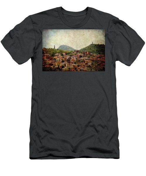 Men's T-Shirt (Athletic Fit) featuring the photograph at Bird Sight  by Milena Ilieva