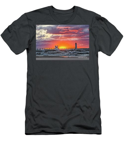 At The Beginning Of The Sunset Men's T-Shirt (Athletic Fit)