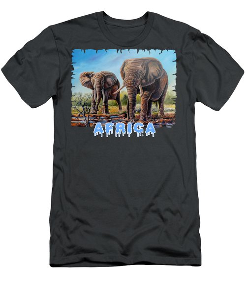 Arriving At The Muddy Pool Men's T-Shirt (Athletic Fit)