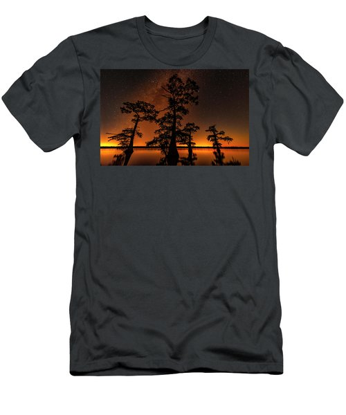 Atchafalaya Basin On Fire Men's T-Shirt (Athletic Fit)