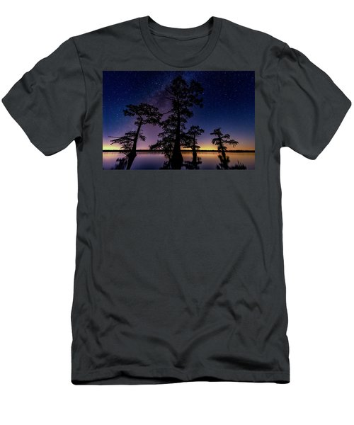 Atchafalaya Basin Under The Miky Way Men's T-Shirt (Athletic Fit)
