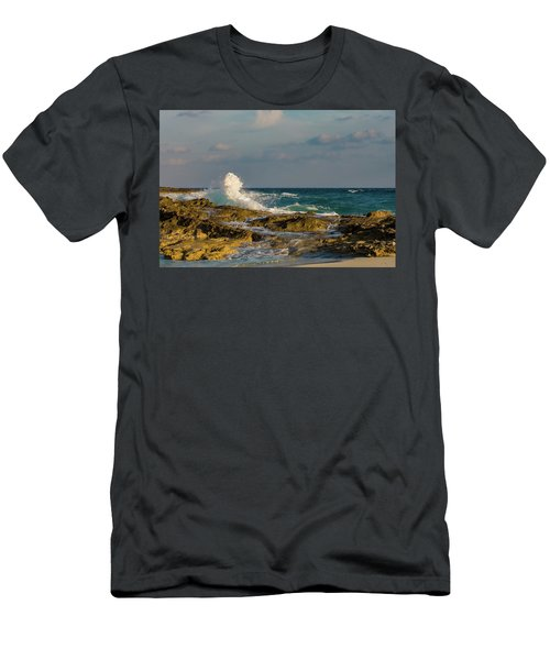 Men's T-Shirt (Athletic Fit) featuring the photograph Atlantis Breakers by Jeff Phillippi