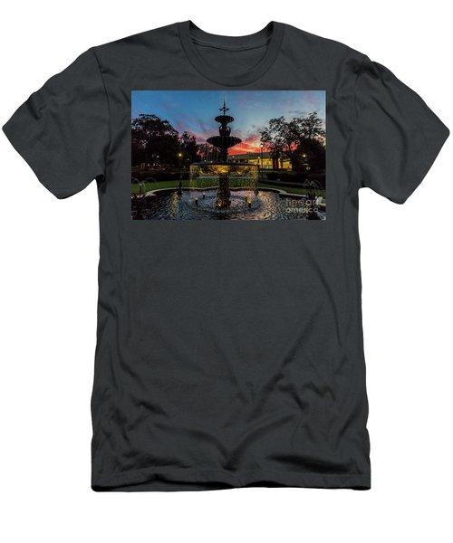 Augusta University Fountain Sunset Ga Men's T-Shirt (Athletic Fit)