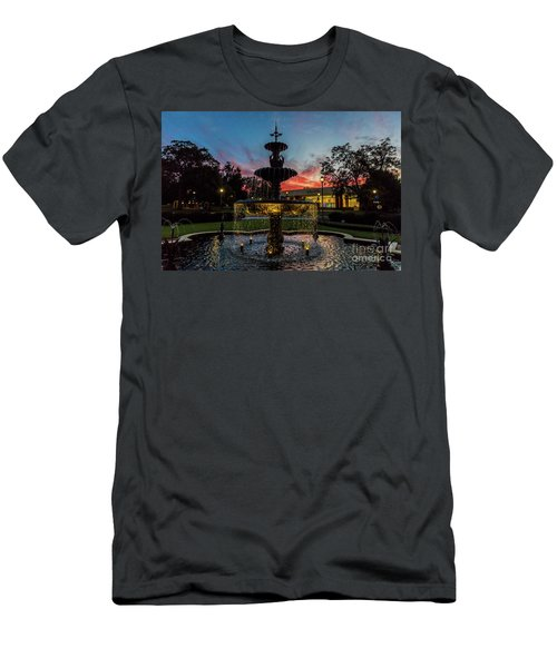 Augusta University Fountain Sunset Ga Men's T-Shirt (Athletic Fit)