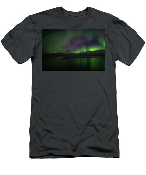 Aurora Borealis Reflecting At The Sea Surface Men's T-Shirt (Athletic Fit)