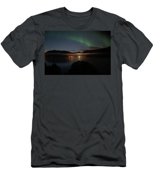 Aurora Northern Polar Light In Night Sky Over Northern Norway Men's T-Shirt (Athletic Fit)