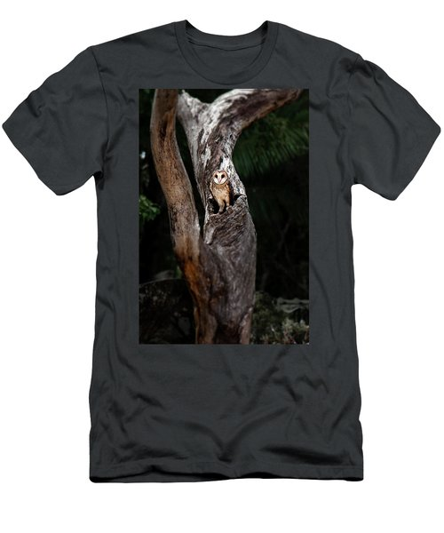 Men's T-Shirt (Athletic Fit) featuring the photograph Australian Masked Owl by Rob D Imagery