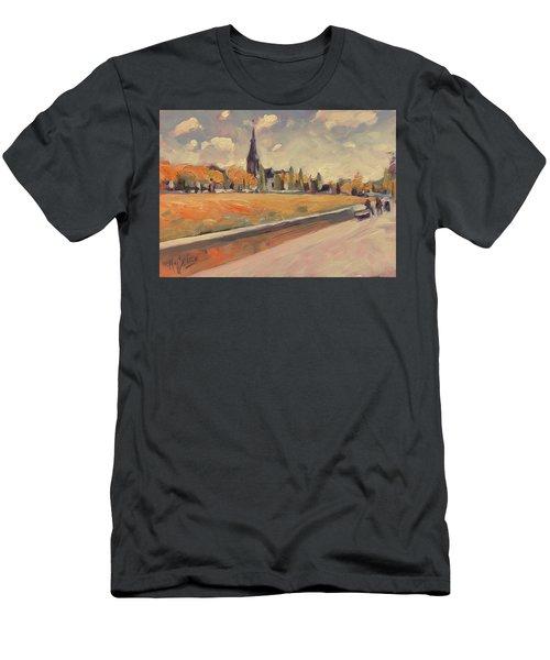 Autumn Along The Griend Men's T-Shirt (Athletic Fit)