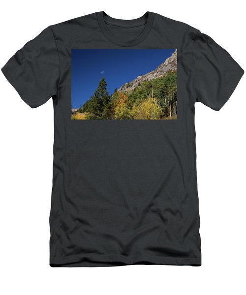 Men's T-Shirt (Athletic Fit) featuring the photograph Autumn Bella Luna by James BO Insogna