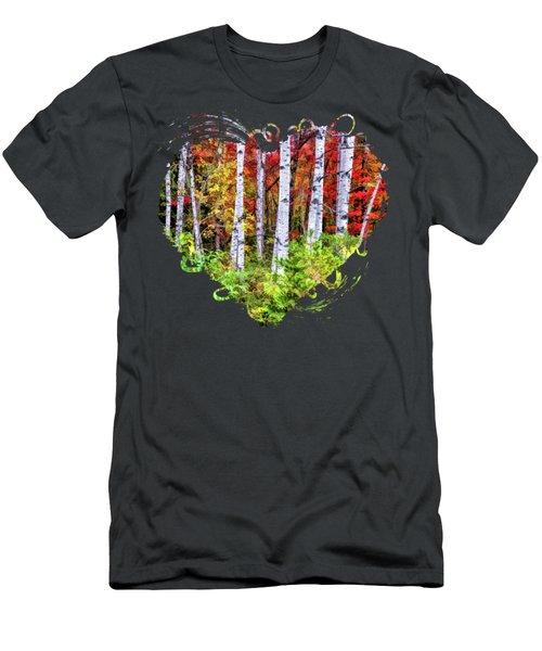 Autumn Birches Men's T-Shirt (Athletic Fit)