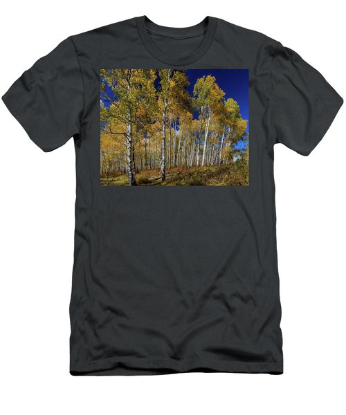 Men's T-Shirt (Athletic Fit) featuring the photograph Autumn Blue Skies by James BO Insogna