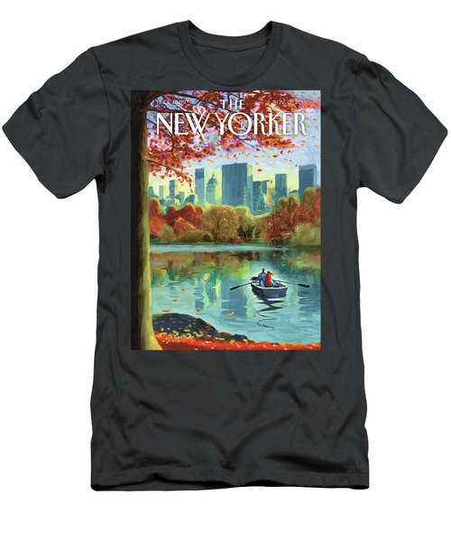 Autumn Central Park Men's T-Shirt (Athletic Fit)
