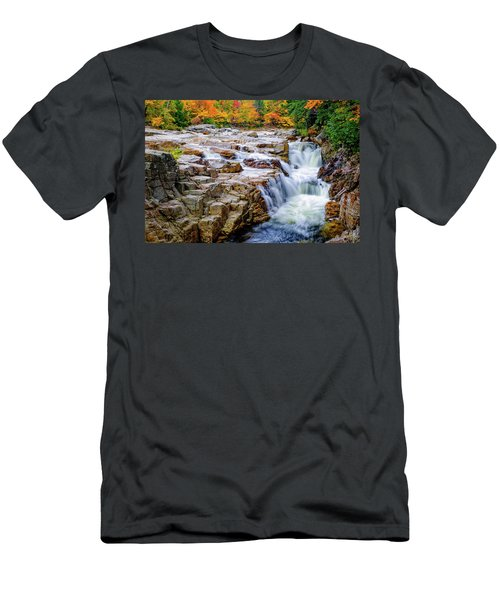 Autumn Color At Rocky Gorge Men's T-Shirt (Athletic Fit)