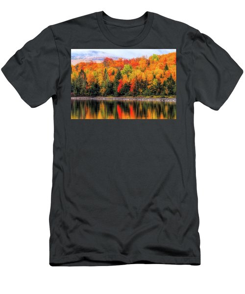 Men's T-Shirt (Athletic Fit) featuring the photograph Autumn Colors Reflection by Dan Sproul
