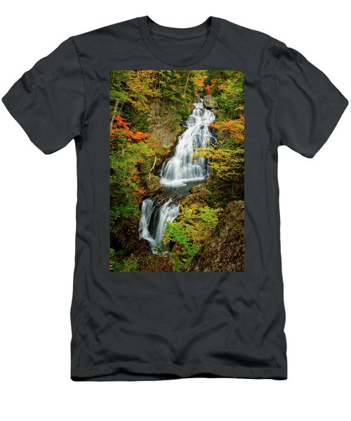 Autumn Falls, Crystal Cascade Men's T-Shirt (Athletic Fit)