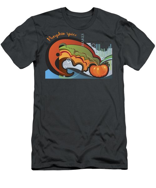 Men's T-Shirt (Athletic Fit) featuring the digital art Autumn Greetings Card by Ariadna De Raadt