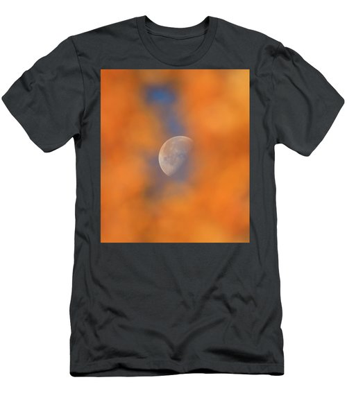 Men's T-Shirt (Athletic Fit) featuring the photograph Autumn Moon by Dan Sproul